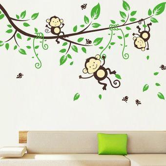 Compra nuevo vivero forestal de dibujos animados mono - Dibujos para dibujar en la pared ...