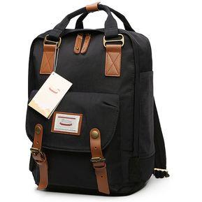 Moda Casual Travel Backpack Laptop Bag Estudiante Bolsa Con Asa a8ed601b0ad7c