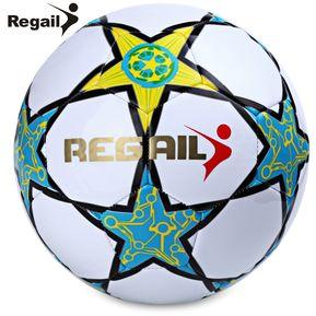 Regail Estrella De Cinco Puntas De La PU Para El Fútbol Joven Adolescente  Juego Blanco e38bad0fe3d6c