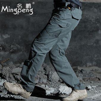 Pantalones Tacticos Militares De Combate Swat Para Primavera Otono Pantalones Multibolsillos Para Hombres Pantalones De Comando Del Ejercito Pantalones Cargo Casuales Gray Green Linio Mexico Ge598fa12mcnclmx