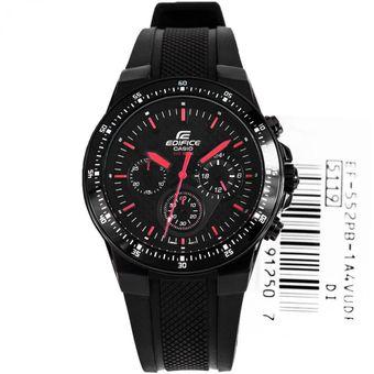 ffd44636b429 Agotado Reloj Casio Hombre Edifie Ef 552 Cronografo- Negro Paunteros Rojos