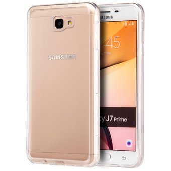 d45499d7754 Funda Case Para Samsung J7 Prime Protector Transparente De Acrílico Con  Bordes De Plastico TPU -