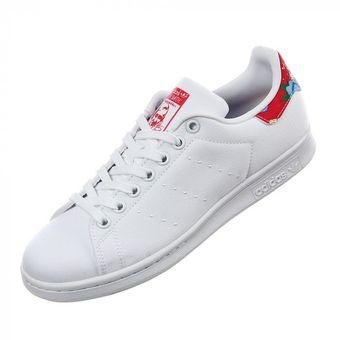 127da1737 Compra Tenis Adidas Stan Smith Originals Mujer Blanco Flores online ...