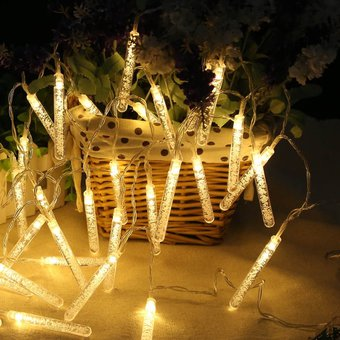 Alimentado Por Batería De 20 Led Lámpara Lámpara De Decoración De Navidad Columna Cadena Bz509 Ip44