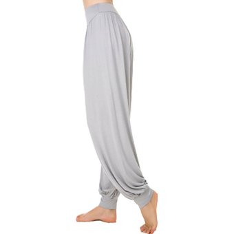 Tela Modal Pantalones De Yoga Sueltos De Cintura Alta Para Mujer Pantalones Bombachos Lan Gris Linio Peru Ge006sp0aqutulpe
