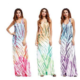 2912f20394f37 Compra Casual Vestidos Mujer Vestido Maxi Vestido De Noche De Verano ...
