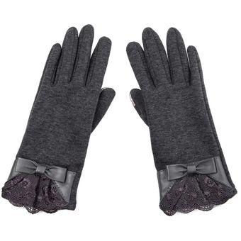 Compra Par de guantes elegantes de la pantalla táctil de (Gris ... b3309065112