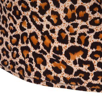 80725cc9e0d1 E-Thinker Camisa Casual Manga Larga Con Encaje Para Mujer -Leopardo