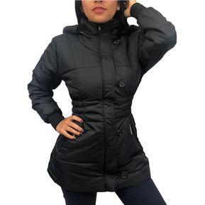 ba0ddf0a0697d Chaqueta Gabán Invierno Impermeable Termica Mujer Dama Ganesh L016 - Negro