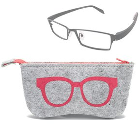 4f9a58295a Gafas Patron Protector De La Cremallera De Fieltro Para Gafas / Anteojos  (rosa)