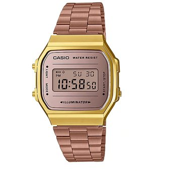 080ffbfb4700 Compra Reloj Casio Retro A168WECM-5A Color Rose Gold online