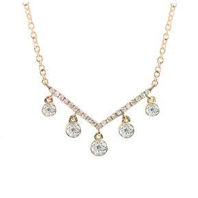 070fe35e7a52 Gargantilla Oro Amarillo con 26 Diamantes 14K