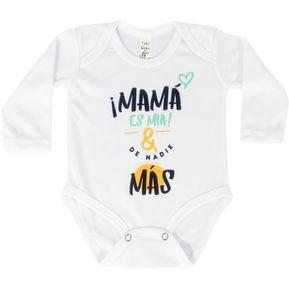 Body Bebé Unisex Thg Baby Mamá es mia y de nadie más-Blanco 151fe322859