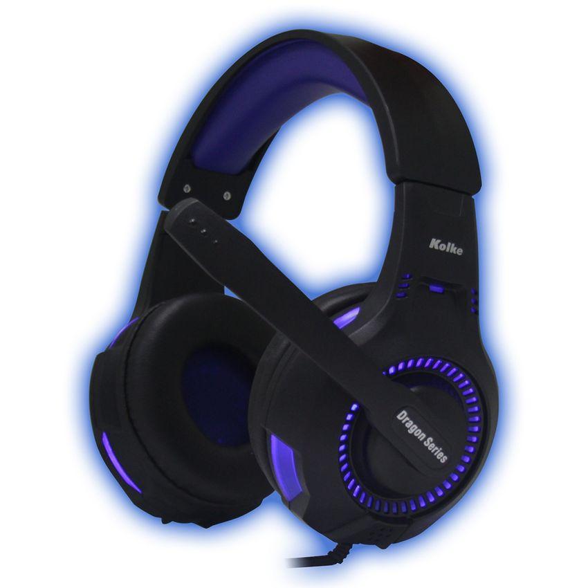 Auriculares Gamer Pc Y Ps4 Kolke Spartan Azul Gaming Led Usb