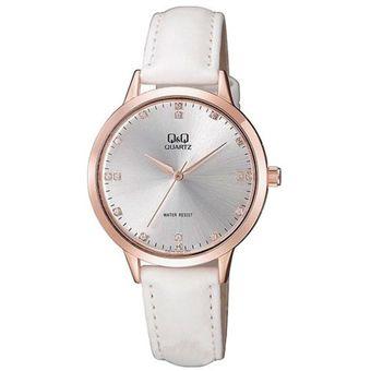 f4200f7b2a8f Compra Reloj Q Q Dama QA09J101Y Cuero - Blanco online