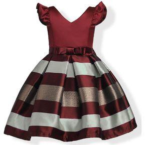 9af0a67f1 Vestido de niña Niños volantes Fiesta de encaje Vestidos de dama de honor