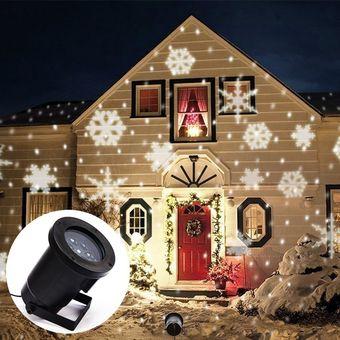 ea6b0992150 Navidad Lámpara Copos De Nieve Luz Del Proyector Impermeable  E-Thinker-Blanco