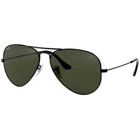 6a4a812f0b5f0 Lentes de Sol Aviator Black Green G-15 Ray-Ban
