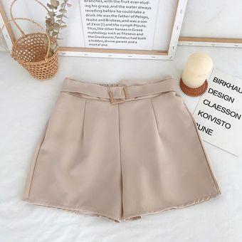 Modernos Pantalones Cortos Informales De Verano Para Mujer Pantalones Cortos Holgados De Cintura Alta Con Cordon Suaves Y Bonitos Khaki Linio Peru Un055fa16n9wzlpe