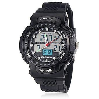 36bde7f5f66c Compra Zonas Sport Style Dual Time Rubber Band cuarzo reloj de ...