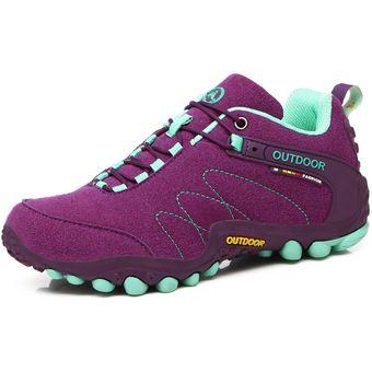 Precio 50% precio favorable mejor mayorista Zapatos Para Mujer Calzado De Senderismo Y Trekking Para Mujeres-Púrpura