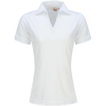 e095f29e855f8 Playera Dama POLO Dry FIT Mujer Dacache Uniforme Empresarial Ejecutivo  Oficina Color-Blanco