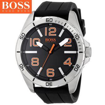ab4bcc020d21 Reloj Hugo Boss 1512943 Big Time Acero Inox Correa De Silicona Negro