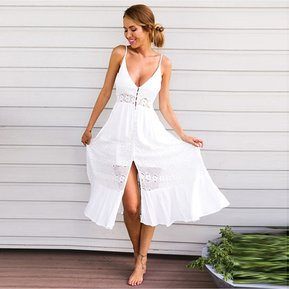 diseño atemporal a377a b776a Vestidos color blanco para fiesta playa – Vestidos de fiesta