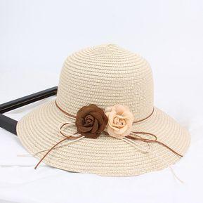 0faa5891faeb0 Sombrero De Verano De Señora -Beige