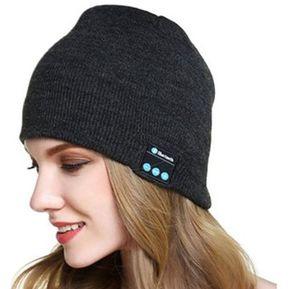 Gorro De Lana De Unisex Como Audifonos De Bluetooth E-Thinker - Gris Oscuro 2bc5f1f6ca5