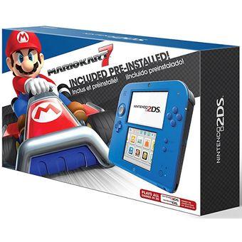 Consola Nintendo 2DS + Memoria 4Gb + Juego Mario Kart 7 - Rojo y Azul