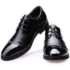 87cbae198af29 Zapatos Oxford De Costura Y Ecocuero Para Hombre E-Thinker - Negro