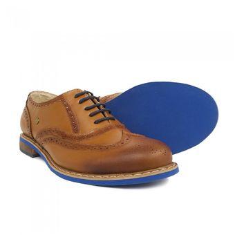 Compra Online Hombre Cuero Azul Puchetty Oxford Y Zapatos Miel r46qPr