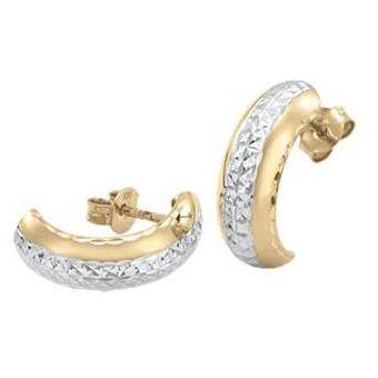 1a8dadbcc154 Compra Aretes Cristal Joyas Oro Blanco Y Amarillo 14k online