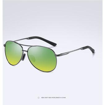 5fb9c8ac09 Gafas De Sol HD Polarizadas Populares Para Hombres Y Mujeres-Verde Gris