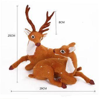 Compra Navidad Simulacion Ciervo Navidad Decoracion Tamano Los 25 - Ciervo-navidad