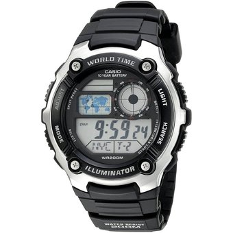 907e0cc5d87a Compra Reloj Casio AE-2100W-1A Para Caballero En Resina Plateado ...