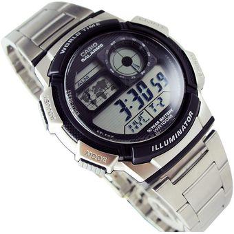956b697a7cad Reloj Casio AE-1000WD-1A Digital -Acero Inoxidable - Plateado Para Caballero