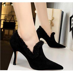 Tacones altos De Moda Fresca Para Mujer Negro 3d4619d9e733