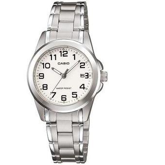 gran venta 49f3c d8330 Reloj Casio Dama Modelo Ltp1215a Calendario - Blanco