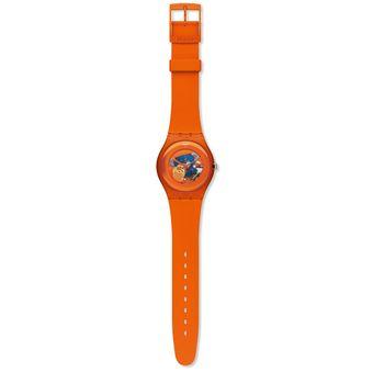 Swatch Lacqueredsuoo100 Naranja Orangish Reloj Unisex TlFc3uK1J