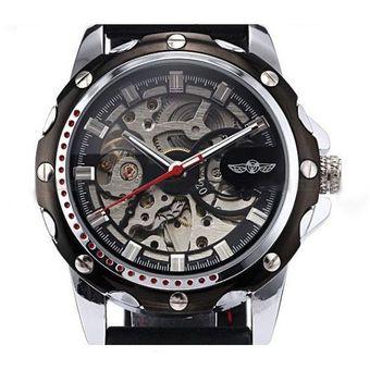 17b92efd7173 Agotado Reloj Winner Diseño Skeleton Automático Hombre Pulso Silicona -  Negro