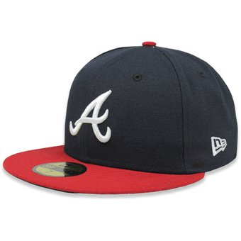 89b803e4aad99 Compra Gorra New Era 5950 MLB Atlanta Braves Home AC Azul Rojo ...