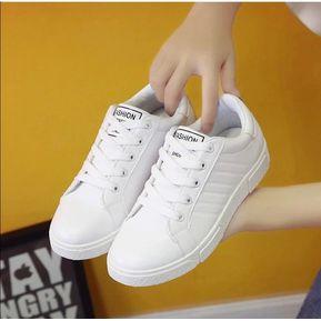 96f54799ff083 Envío gratis. Tenis Casuales Mujer Deportivas Corre Zapatos Bajo-blanco