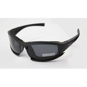 c5233f9d17 Gafas Militar Motocicleta 4 Lentes Color Negro (Polarizadas / No  Polarizadas)