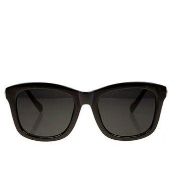 25d4350488 Agotado Elegante Cuadrado Gafas De Sol Mujer Grande Marco Los Anteojos  -Negro