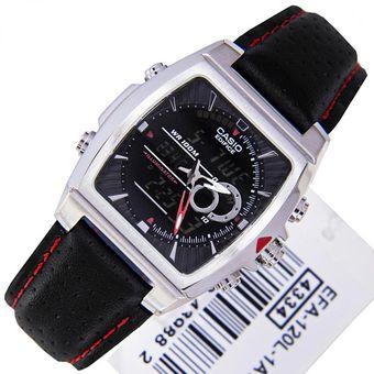 97bb53c864d2 Compra Reloj Casio Edifice Efa 120 Cuero Hombre Termómetro - Negro ...