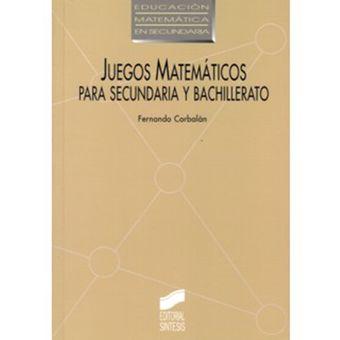 Compra Juegos Matematicos Para Secundaria Y Bachillerato Fernando