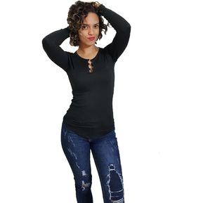 f2eda90c7d Nathalie Love It - Blusa Mujer Devora - Negro