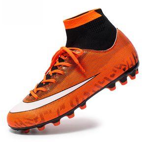 9ad2ba839cfc7 Zapatillas de deporte de entrenamiento de fútbol Boy Lace Up-Naranja